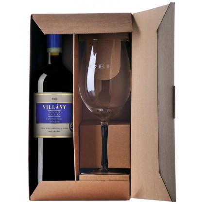 GERE díszdoboz 1-pohár ás 1-palack borhoz, (az ár a bort nem tartalmazza!)