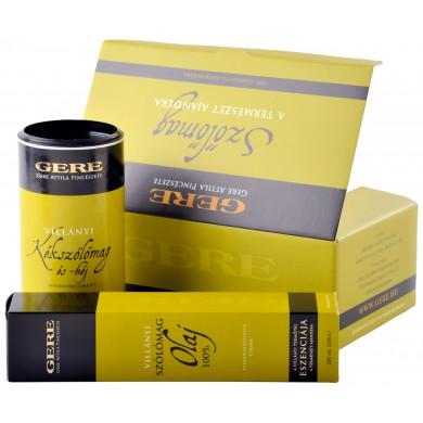 GERE szőlőmag termékek egy dobozban